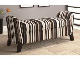striped upholstered bench with storage beautiful upholstered