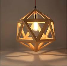 Wooden Light Fixtures Wood Pendant Lights Modern Restaurant Droplight Creative