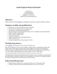 resume summary examples engineering collection of solutions studio recording engineer sample resume collection of solutions studio recording engineer sample resume also summary sample