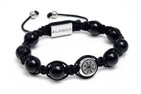 shamballa bracelet jewelry images Smooth black double signature shamballa bracelet alanka jewelry jpg
