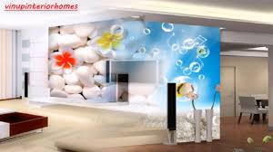 modern 3d wallpaper round and flowers art wall decor for tv sofa