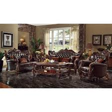 5 piece living room set versailles loveseat with 5 pillows by acme furniture 52121 acme
