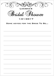 advice to the cards bridal shower advice cards