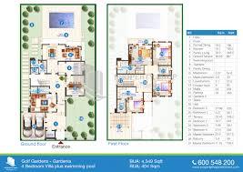 Four Bedroom Floor Plan 4 Bedroom Floor Plans Of Gardenia Golf Gardens