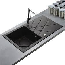 evier de cuisine en granite evier de qualité en granit noir de la marque kumbad curuba 1 bac