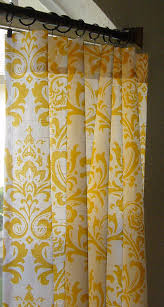 Yellow Drapery Pair Of Two 25 W Panels Damask Curtains Custom By Sewpanache