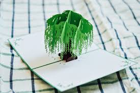 willow tree pop up card birthday card anniversary card
