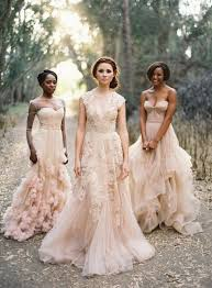 non white wedding dresses lace blush gown 15 gorgeous nonwhite wedding gowns for the bold
