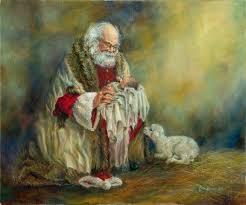 santa kneeling at the manger parsippanyumc the backstory of santa claus