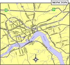 Canada Cities Map by Moncton Map