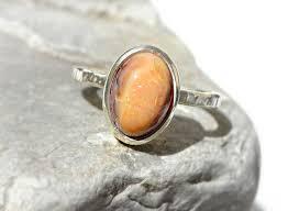 matrix opal ring fire opal engagement ring cantera opal ring matrix opal ring