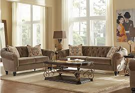 Find Living Room Furniture Shop For A Cindy Crawford Home Meredith Taupe 5 Pc Living Room At