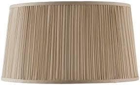 kemp pleated faux silk 17 inch beige oval table lamp shade 63780
