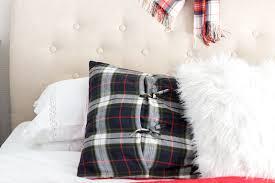 plaid christmas bedroom decor