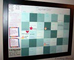 diy dry erase calendar 16x20 frame 35 paint samples from