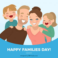merry family day background vector free