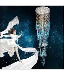 blue crystal chandelier light l4d royal blue crystal chandelier light fixture long large crystal