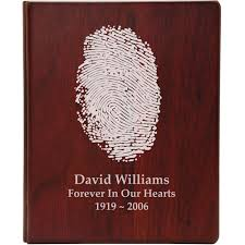 funeral guest books wholesale funeral guest books wooden binder fingerprint option