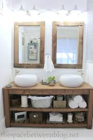Salvage Bathroom Vanity by Upcycling Idea Diy Reclaimed Wood Framed Mirrors