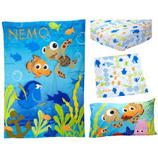 Nemo Bedding Set Disney Nemo 3 Toddler Bedding Set With Bonus Matching Pillow