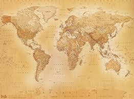 Old World Map Poster by World Map Wallpaper Qygjxz