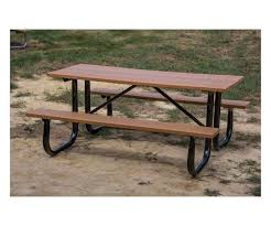 6 ft heavy duty recycled plastic picnic table with welded
