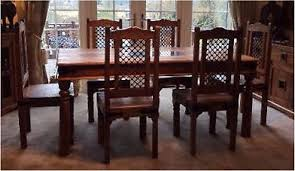 Jali Dining Table And Chairs Indian Sheesham Jali 6 Seater Dining Table Chairs Country