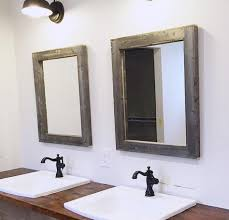 Wooden Bathroom Mirror Reclaimed Wood Bathroom Mirror Bathroom Cintascorner Bathroom