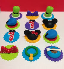 party decorations mickey mouse clubhouse cupcake decorations