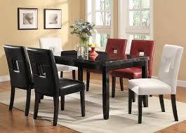 coaster newbridge black 7 piece dining room set goedekers com