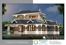 Square Feet Double Floor Modern Traditional Home Design - Modern traditional home design