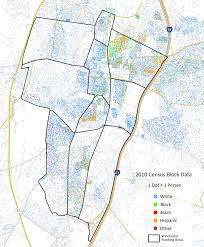 Virginia Map With Cities One Dot One Person Population Density Maps For Virginia Cities
