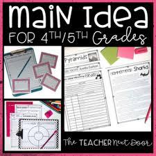 main idea 4th and 5th grade by the teacher next door tpt