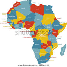 africa map color abstract vector color map lesotho country stock vector 17384185