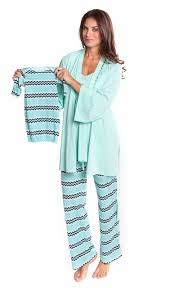 olian maternity olian maternity mint zigzag matching nursing pajama set