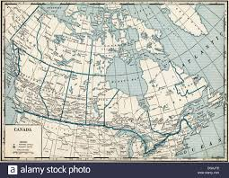 Map Of Saskatchewan Canada by Old Map Of Canada 1930 U0027s Stock Photo Royalty Free Image