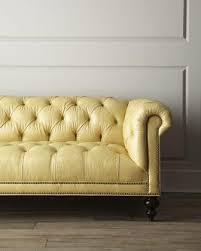 Diamond Tufted Sofa Fenway U0027 Tufted Leather Sofa Neiman Marcus