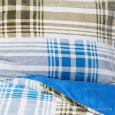 povlečení mikroplyš exclusive cross modré 140x200 70x90