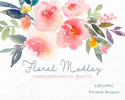 wedding flowers clipart digital clipart watercolor flower clipart peonies clip
