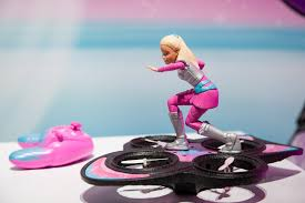 barbie convertible barbie trades in her pink convertible for a hoverboard drone the