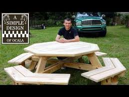 How To Build A Hexagon Picnic Table With Pictures Wikihow by Building Your Own Octagon Picnic Table Plans Free Diy Furniture