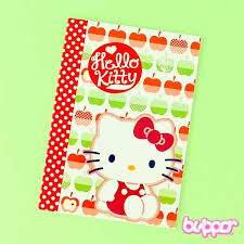 buy kitty apple small lined notebook free shipping