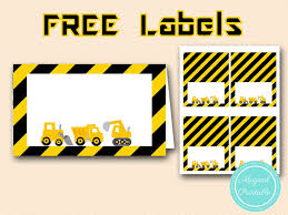 free printable table tents construction baby shower games pack magical printable