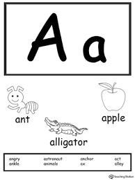 the letter a is for apple myteachingstation com