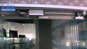 commercial glass sliding doors automatic sliding door opening mechanism video olideautodoor com