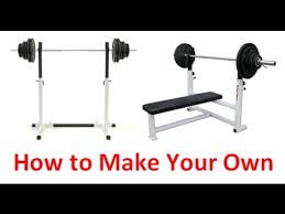 Squat Rack And Bench How To Make Your Own Squat Rack And Bench Press Youtube
