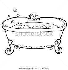 bath duck soap foam bubbles interior stock vector 479163685