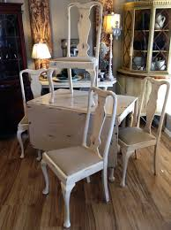 White Drop Leaf Table And Chairs Solid Cherry Drop Leaf Table And Hand Made Chairs Painted In A