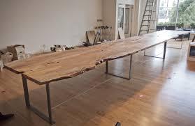 Timber Boardroom Table 10 Urban Timber Long Live Edge Table Algin Retro