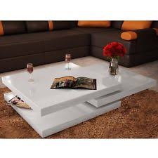 glossy white coffee table chrome square coffee tables ebay